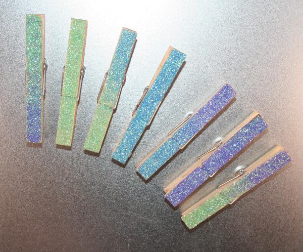 glitterclothespins