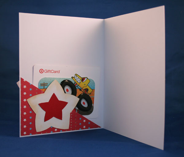 Star Card inside with gift card